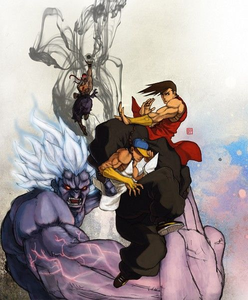 Street Fighter - Oni, Evil Ryu, Yun, and Yang