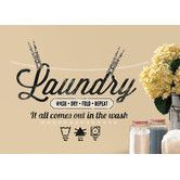 Found it at Wayfair - Laundry Quote Peel and Stick Wall Decal