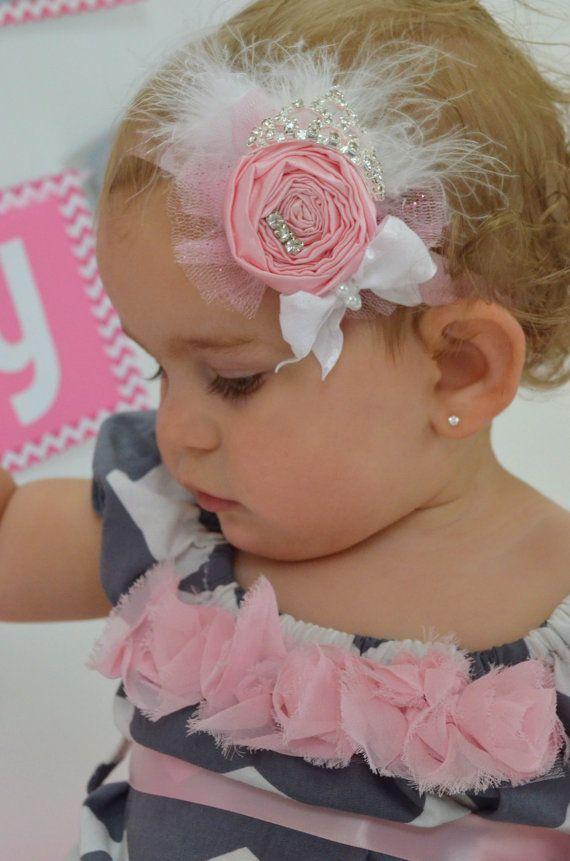 Princess Birthday-Princess Party-Princess Headband-Pink Princess Headband-Princess Birthday Headband-Princess Party-Birthday Princess on Etsy, $16.99
