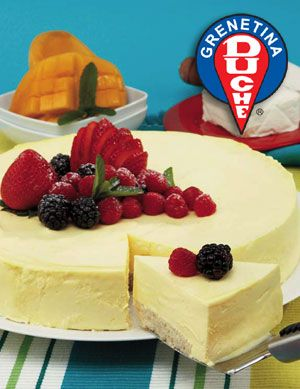 Pastel de queso con mango