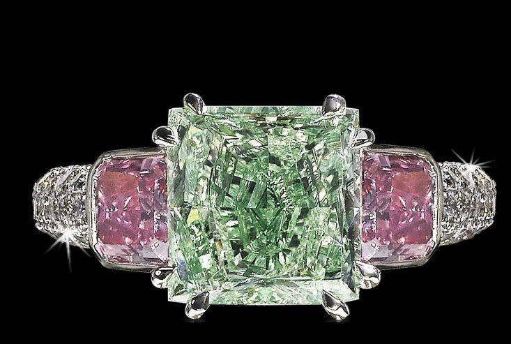 David Morris - Green/Pink Diamonds
