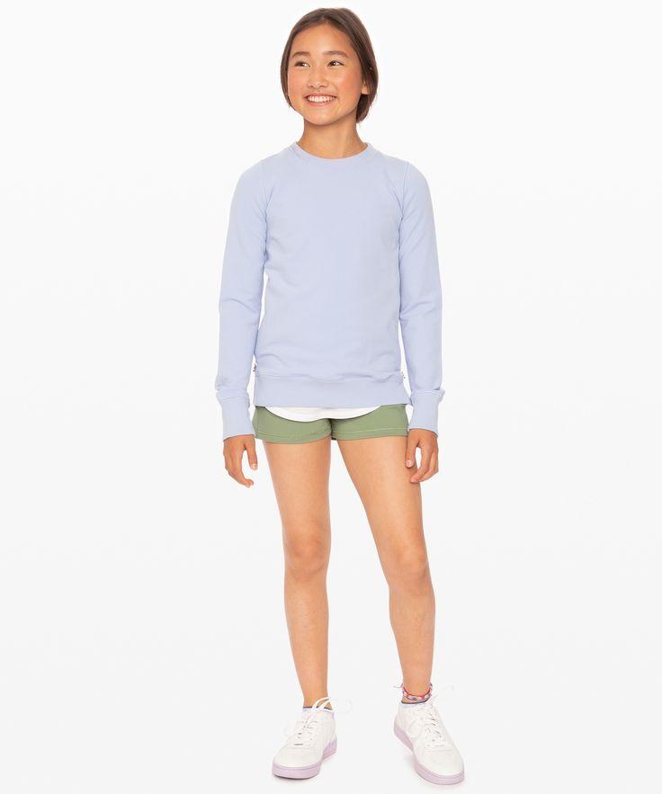 lululemon Good Feels Sweatshirt – Girls, Lavender Dusk, Size 10
