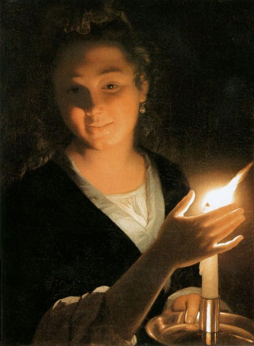 citrusina: Girl with a candle Godfried Schalcken