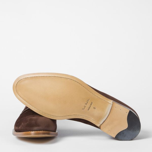 Paul Smith Men's Brown Suede 'Ernest' Shoes