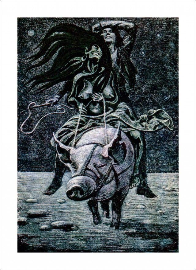 """Henrik Ibsen 'Peer Gynt', """"On a wedding horse"""" by Савва Бродский"""