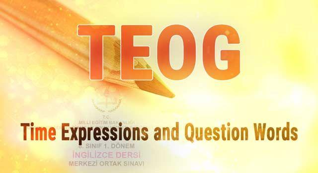 Tüm sınıf düzeylerinde kullanabileceğiniz ve özellikle öğrencilerimizin TEOG sınavında çeviri yapmasında kolaylık sağlayacak olan Time Expressions and Question Words dosyasını PDF formatında bu bağlantıdan indirebilirsiniz. İyi çalışmalar...