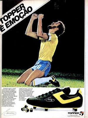 8ad381a519 Viajante do tempo real  CHUTEIRAS TOPPER SÓCRATES Seleção Brasileira 1982