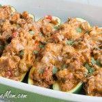 Low Carb Taco Stuffed Zucchini Boats