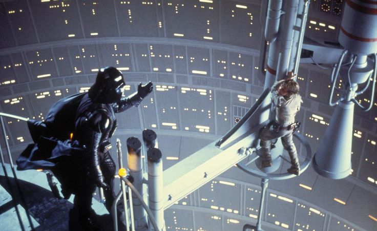 """Star Wars: Episode V - The Empire Strikes Back"", 1980.   David Prowse i Mark Hamill."
