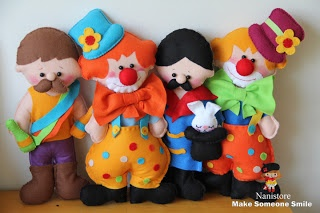 Felt Circus Dolls These are sooooo cute!