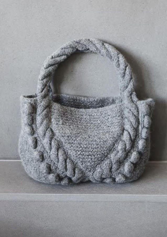 FILZTASCHE Feltro von Lana Grossa; felted braid bag...