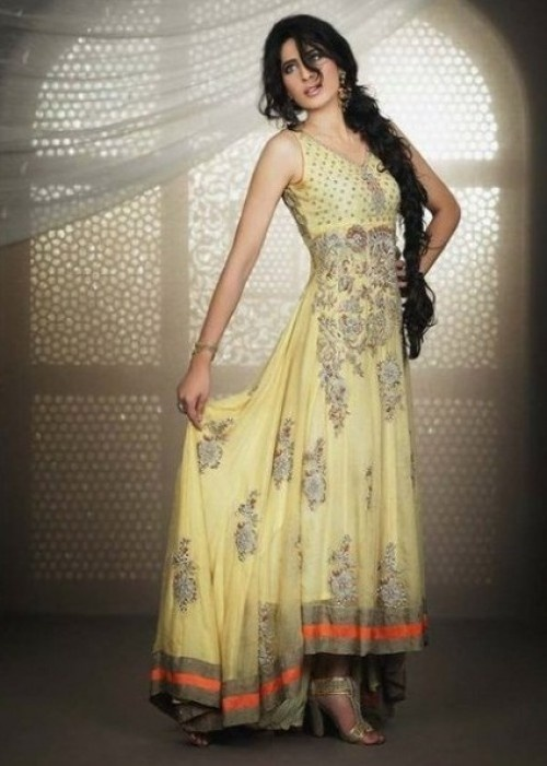 Pakistani pastel yelloe Shalwar Kameez 2012.. so sexy #kimmie1980ca