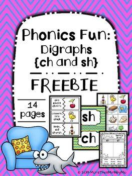 phonics fun: digraphs (ch and sh) freebie