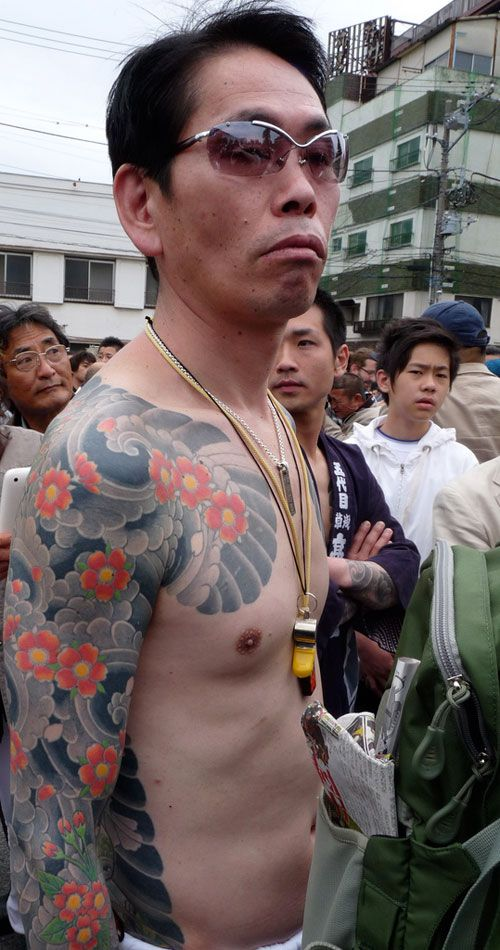 Blossom cloud windbar only. Yakuza style chest Half Sleeve and back Tattoo