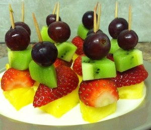fruit kebabs                                                                                                                                                                                 More