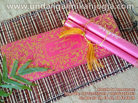 undangan nikah, pernikahan, undangan jogja, unik, tradisional, undangan murah, souvenir nikah: Undangan Gulung