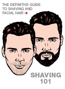 The ultimate guide to shaving: http://www.menshealth.com/grooming/shaving-clean?cm_mmc=Pinterest-_-MensHealth-_-Content-Looks-_-UltimateShavingGuide