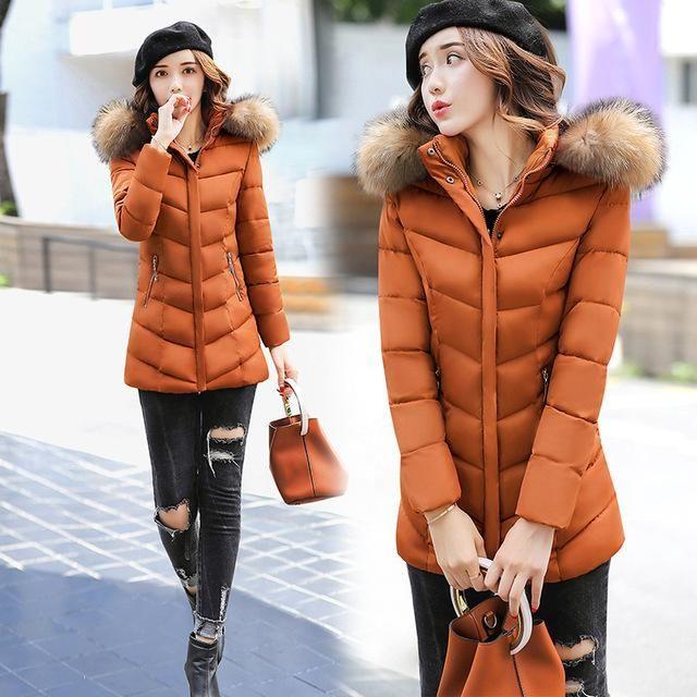 Parka Overcoat Female Winter Warm Women Parkas Outerwear Zipper Hooded Pockets Coats Autumn Femininos Outfit Plus Size GV934