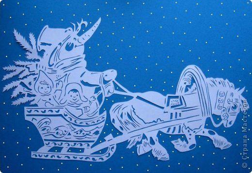 По советской новогодней открытке.  Добавлено 17.01.13: Художник - Белов, 1968 год.  Спасибо большое Наталии (http://stranamasterov.ru/user/146617) за информацию.  фото 1