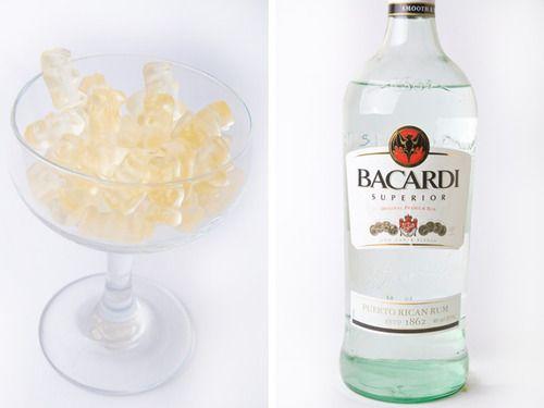 Rummy Bears!Rummy Bears, Bachelorette Parties, Candies, Drunken Gummy Bears, Cocktails, Drinks, Serious Eating, Serious Eats, Alcohol Gummy Bears