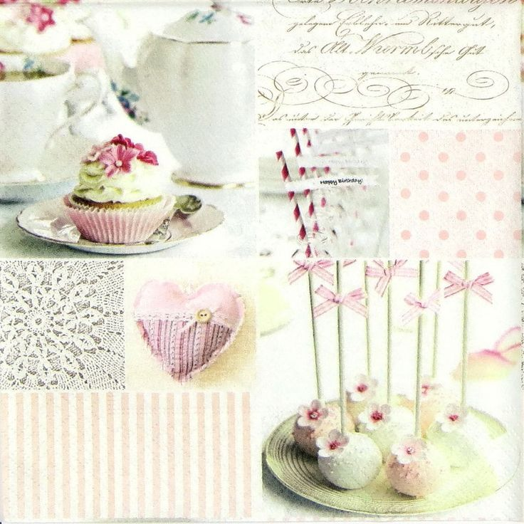 4x Single Table Party Paper Napkins for Decoupage Decopatch Vintage Cake Pops in Crafts, Multi-Purpose Craft Supplies, Crafting Paper | eBay!