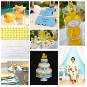 Ideas para festejar un Baby Shower Patito | Manualidades para Baby Shower