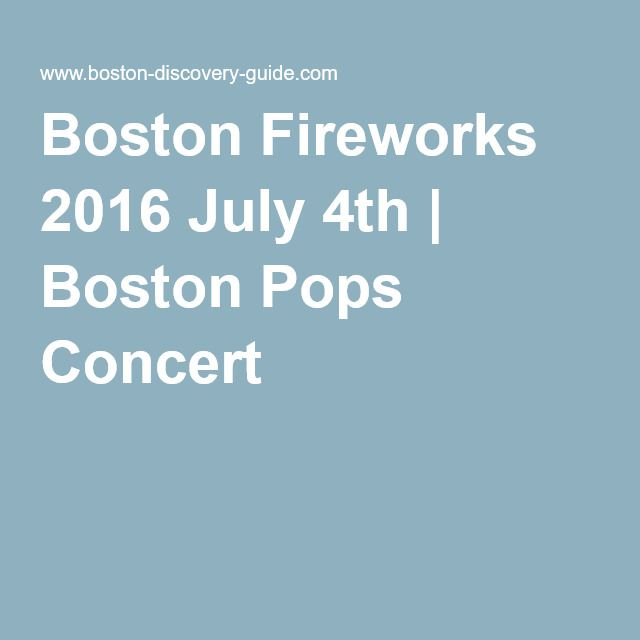 Boston Fireworks 2016 July 4th | Boston Pops Concert