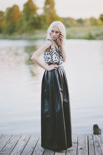 1000  images about Leather midi skirts on Pinterest | Maxi skirts ...