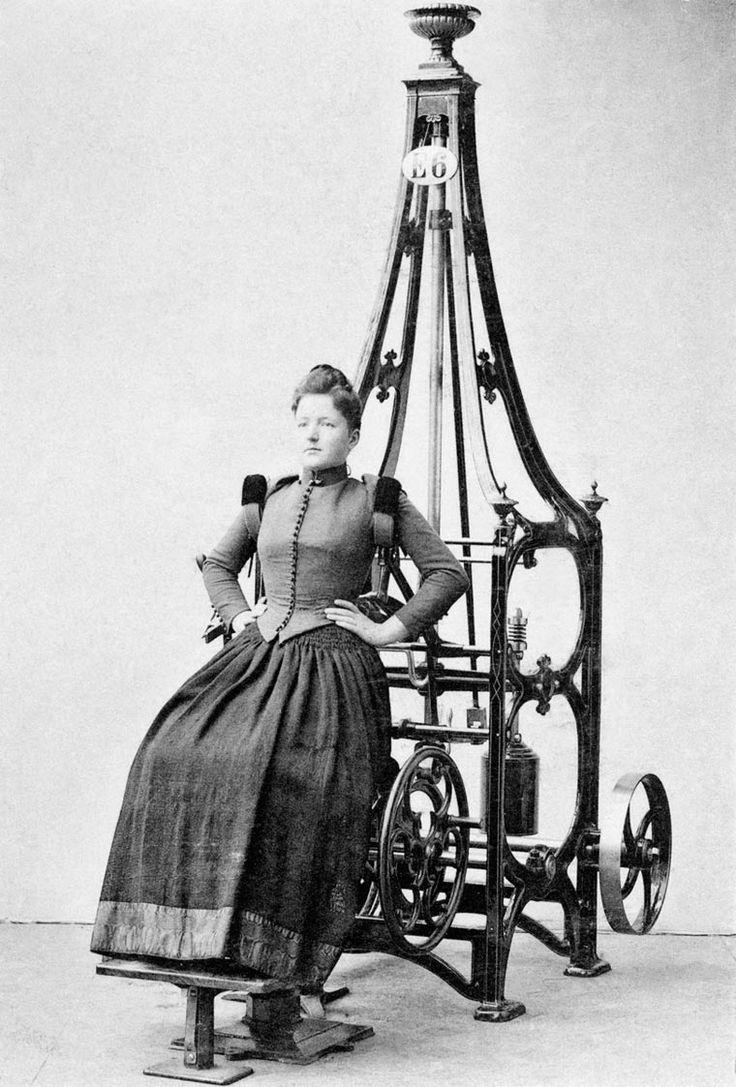 Les appareils de musculation vintage des premières salles de sport (image)