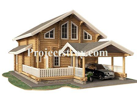 #Projectstroy #Проектыдомов #Дом+сауна #Дом+бильярдная  Деревянный дом из бревна 260 мм с навесом под авто - сауной - бильярдной.  Размер строения с навесом под автомобиль 9.3х14.9 м. Размер самого дома 8.3х9.5 м.  Экспликация:  - навес под авто; - веранда; - тамбур; - бойлерная (котельная); - санузлы на этажах; - сауна с душевой; - кухня-гостиная 18.7 кв. м; - бильярдная 21.55 кв. м; - 3 спальни более 15 кв. м.   http://projectstroy.com/project_r_16.html