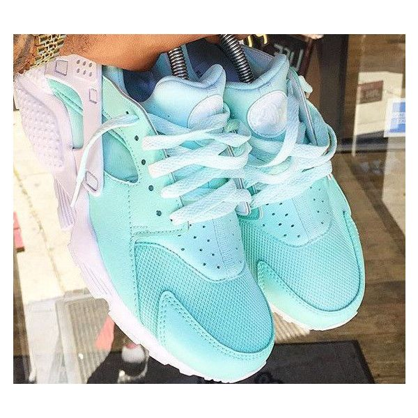 Mint Nike Air Huarache Mint Huarache Unisex Huarache Unisex Mint ❤ liked  on Polyvore featuring shoes, silver, sneakers \u0026 athletic shoes, tie sneakers,