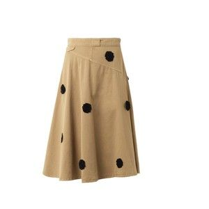 BAND OF OUTSIDERS Floral appliqué chino skirt