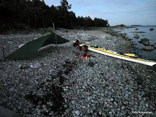 My kayak and shelter