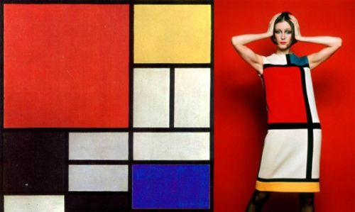 Moda e Arte - Yves Saint-Laurent - Mondrian 1965