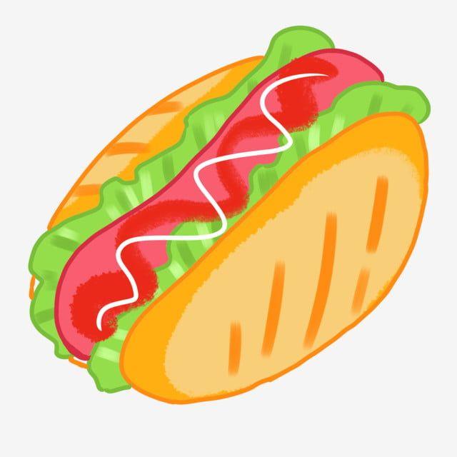 Cartoon Yellow Burger Illustration Png And Psd