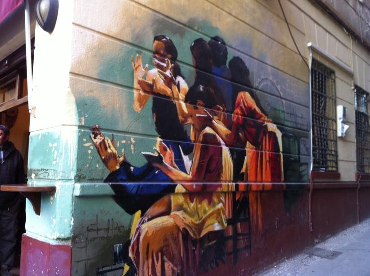 mural in Granada, Spain