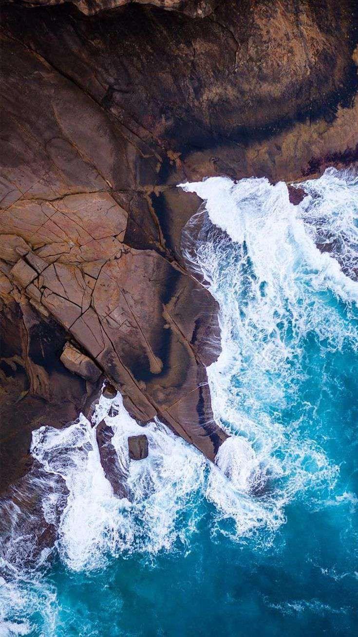 Nature Beach Rocks Ocean Hd Iphone Wallpaper Beach Rocks Ocean