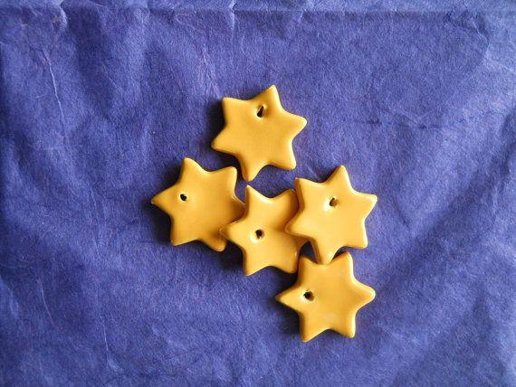 Decorazioni natalizie stelline in ceramica di ceramichemessina