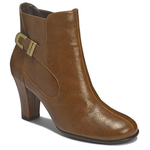 A2 by Aerosoles Role Out booties. The chunky heel and buckle accent lend a fashionable touch to any outfit.