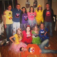 Sesamstraße | Kostüm-Idee für Gruppen zu Karneval, Halloween & Fasching                                                                                                                                                                                 Mehr
