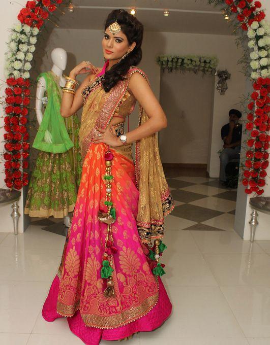 #indian #wedding #lehenga #indianfashion #pink&orange