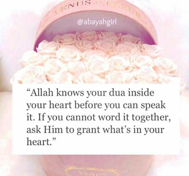 Allah knows what is in every heart ❤️