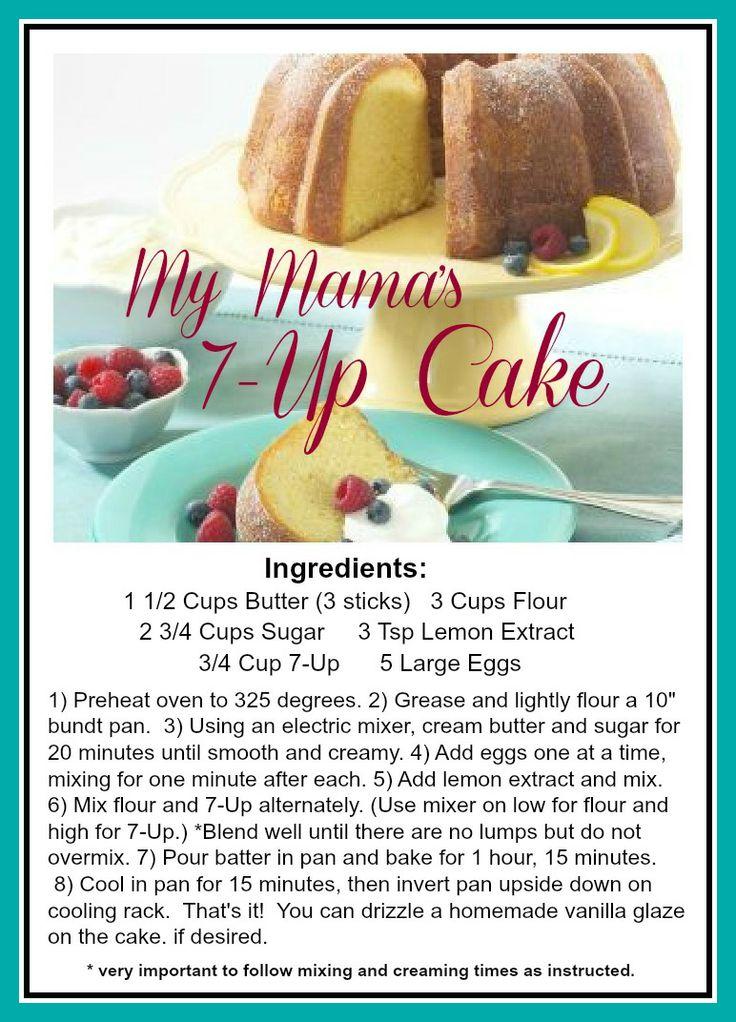 The Everyday Home: 7-Up Cake Recipe