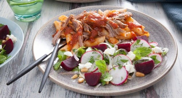 Succulent and flavoursome, this Slow Roasted Lamb by Phoodie is worth waiting for!  #meat #pasta #recipe