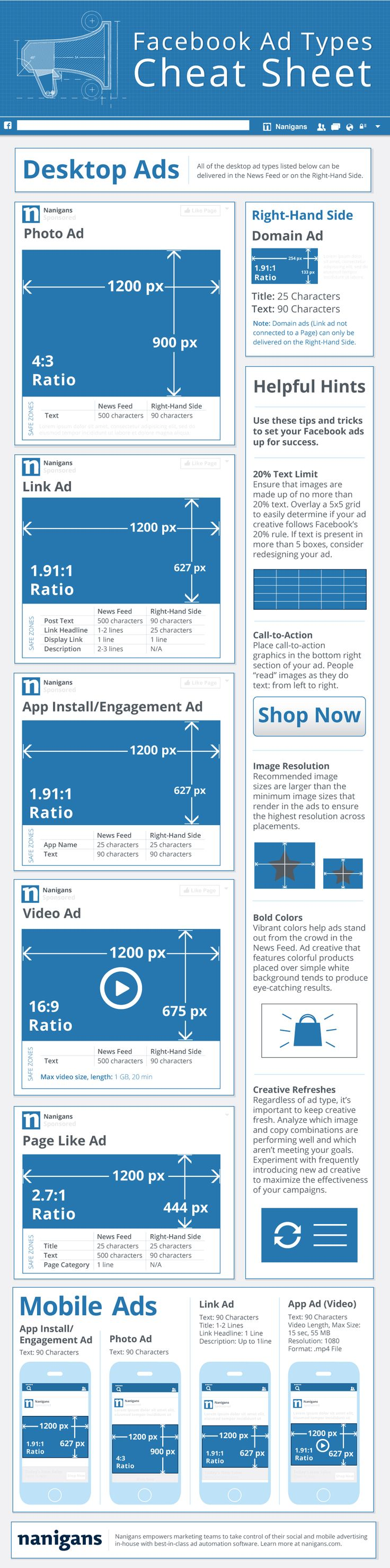 Infographic: Facebook ad types cheat sheet - Love a good success story? Learn how I went from zero to 1 million in sales in 5 months with an e-commerce store.