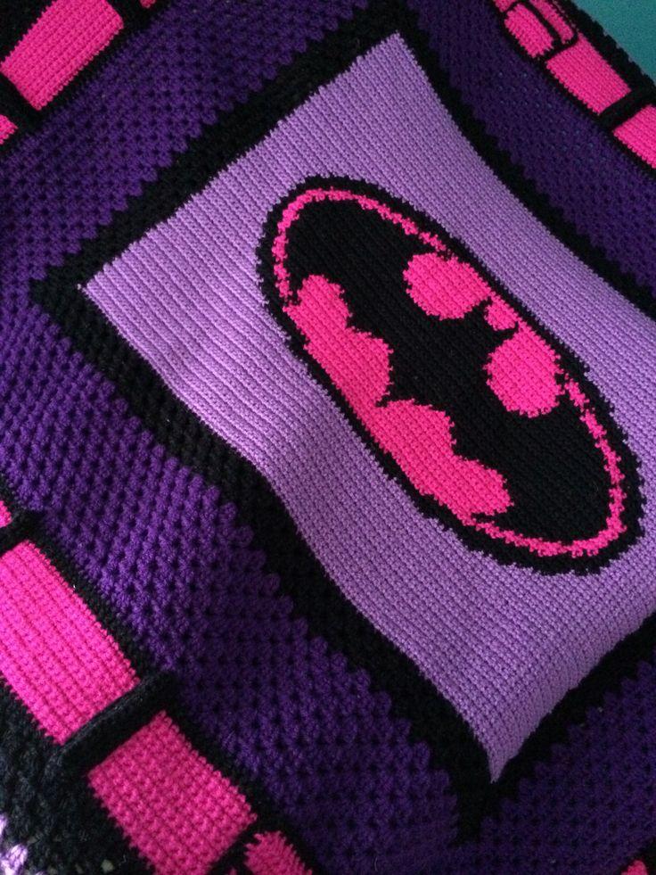 Batman Cushion Knitting Pattern : Crochet batman blanket pattern! My Victoria Rose Shop Pinterest Blanket...