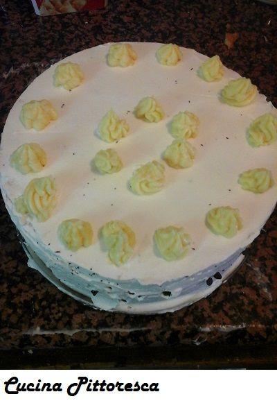 torta bianca casereccia alla crema e cioccolato- Cucina Pittoresca