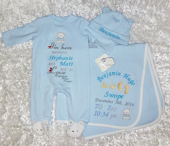 47 best beautiful baby gifts images on pinterest baby gifts personalized babys coming home outfit footie and hat set custom embroidered baby shower gift gift for new born bear footie negle Images