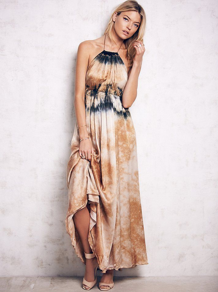 Cecilia De Bucourt Love Me In Silk Tie Dye Maxi at Free People Clothing Boutique