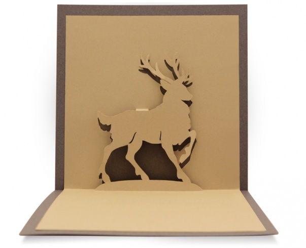 Un très beau modèle de cerf à réaliser en kirigami! vous allez vous faire plaisir avec ce superbe patron!! Gabarit gratuit à télécharger ici Bonne création!!
